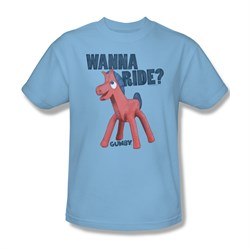 Image of Gumby Shirt Wanna Ride Light Blue T-Shirt