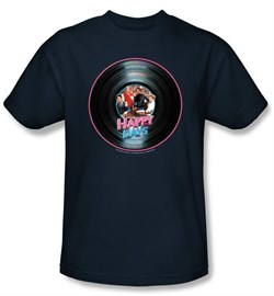 Image of Happy Days Kids T-shirt - On the Record Youth Navy Blue Tee Shirt