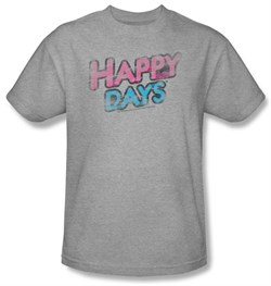 Image of Happy Days Kids T-shirt Distressed Logo Kids Athletic Heather Tee