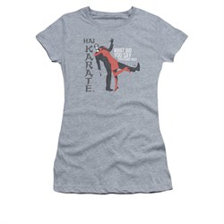 Hai Karate Shirt Juniors Your Name Athletic Heather T-Shirt