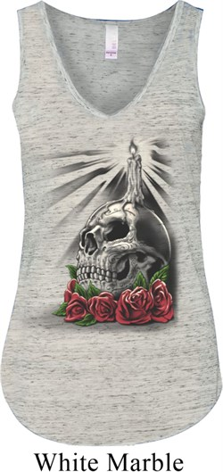 Halloween | Candle | V-neck | Skull | Dead | Lady | Day
