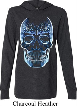 Halloween Glass Skull Lightweight Hoodie Tee