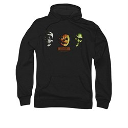 Image of Halloween III Hoodie Sweatshirt Three Masks Black Adult Hoody Sweat Shirt