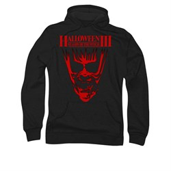 Image of Halloween III Hoodie Sweatshirt Title Black Adult Hoody Sweat Shirt