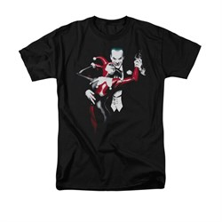 Harley Quinn Shirt Harley And The Joker Black T-Shirt