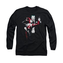 Harley Quinn Shirt Harley And The Joker Long Sleeve Black Tee T-Shirt
