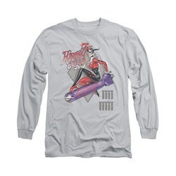 Image of Harley Quinn Shirt The Bomb Long Sleeve Silver Tee T-Shirt