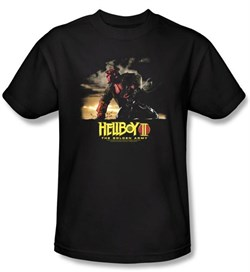 Image of Hellboy II The Golden Army T-shirt Movie Poster Art Adult Black Shirt