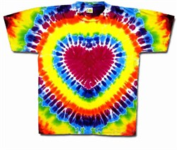 Image of Tie Dye T-shirt - Heart Adult Tee