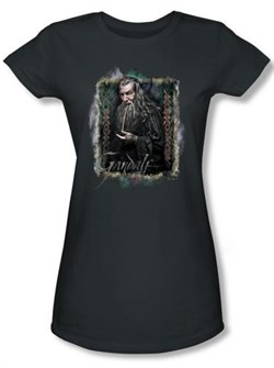 Image of Hobbit Juniors Shirt Movie Unexpected Journey Loyalty Gandalf Charcoal