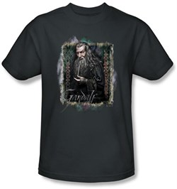 Image of Hobbit Kids Shirt Unexpected Journey Loyalty Gandalf Charcoal Tee