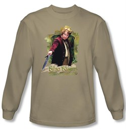 Hobbit Shirt Movie Unexpected Journey Bilbo Baggins Sand Long Sleeve
