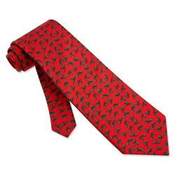 Image of Holy Mini Red Silk Tie Necktie ? Mens Holiday Neck Tie