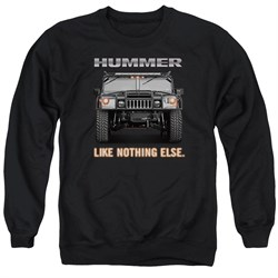 Image of Hummer Sweatshirt Like Nothing Else Adult Black Sweat Shirt