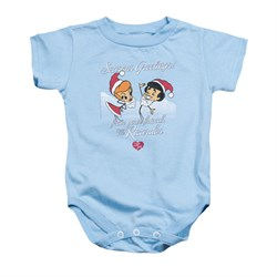 Image of I Love Lucy Baby Romper Animated Christmas Light Blue Infant Babies Creeper