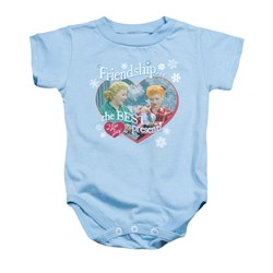 Image of I Love Lucy Baby Romper The Best Present Light Blue Infant Babies Creeper