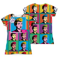I Love Lucy LOL Sublimation Juniors Shirt Front/Back Print