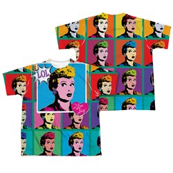 I Love Lucy LOL Sublimation Kids Shirt Front/Back Print
