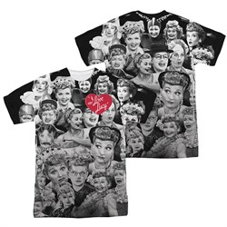 I Love Lucy Lucy/Faces Sublimation Shirt Front/Back Print