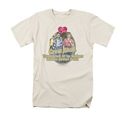 I Love Lucy Shirt Great Shot Adult Cream Tee T-Shirt
