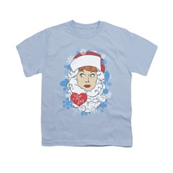 Image of I Love Lucy Shirt Kids Beard Flakes Light Blue Youth Tee T-Shirt