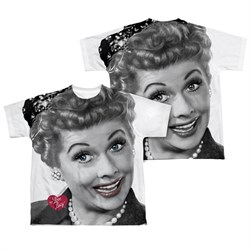 Image of I Love Lucy Timeless Sublimation Kids Shirt Front/Back Print