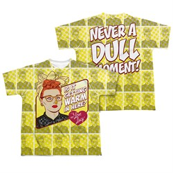 Image of I Love Lucy Warm All Over Sublimation Kids Shirt Front/Back Print