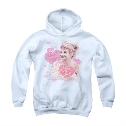 Image of I Love Lucy Youth Hoodie Show Stopper White Kids Hoody