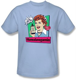 Image of I Love Lucy Clothing - Vitameatavegamin Adult Light Blue Tee