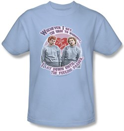 Image of I Love Lucy Shirt - Lucy's Workout Light Blue Adult Tee