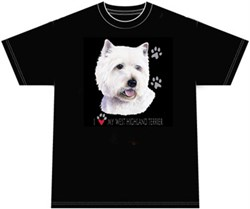 Image of West Highland Terrier T-shirt I Love My West Highland Terrier Tee