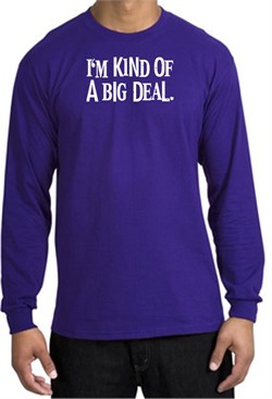 Image of I'm Kind of a Big Deal Sweatshirt White Print Sweatshirt Purple