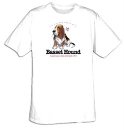 Image of Basset Hound T-shirt - I'm a Proud Owner of a Basset Hound Tee