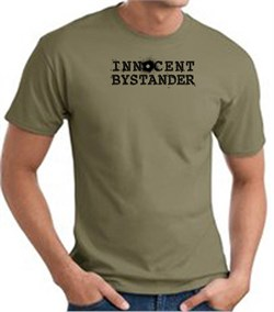 INNOCENT BYSTANDER BLACK Funny Adult T-shirt - Army