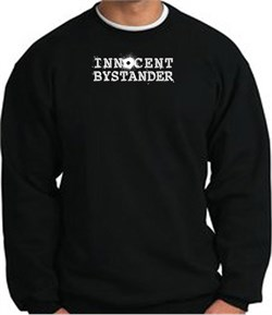 Image of INNOCENT BYSTANDER WHITE Funny Adult Pullover Sweatshirt - Black