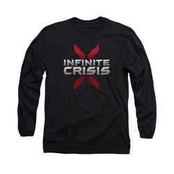 Infinite Crisis Shirt Logo Long Sleeve Black Tee T-Shirt