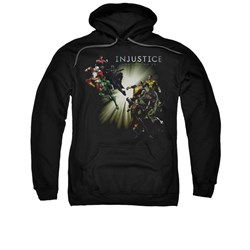 Image of Injustice Gods Among Us Hoodie Good VS Evil Black Sweatshirt Hoody