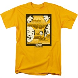 It's Always Sunny In Philadelphia Shirt Sunny Quotes Gold T-Shirt