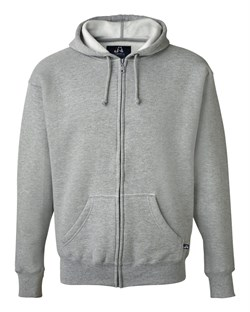 J America Hoodie Full Zip Hooded Sweatshirt Cotton Poly Hoody