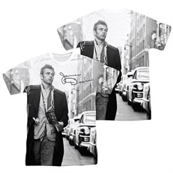 James Dean Shirt Street Walk Sublimation Shirt Front/Back Print