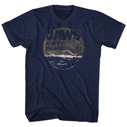 Image of Jaws Shirt Late Swim Navy Blue T-Shirt