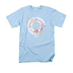 Image of Jaws Shirt Life Preserver Light Blue T-Shirt