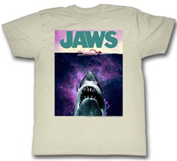 Image of Jaws Shirt Shark Movie Poster Natural T-Shirt