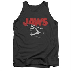 Image of Jaws Shirt Tank Top Cracked Jaw Charcoal Tanktop