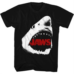 Jaws Shirt White Shark Black T-Shirt