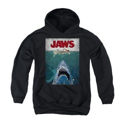 Poster   Youth   Hoody   Black   Jaws   Post   Kid