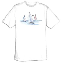 The Joy of Sailing Sailboats Sport T-shirt Tee Shirt