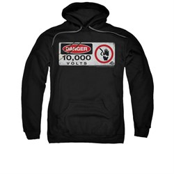 Image of Jurassic Park Hoodie Sweatshirt Electric Fence Black Adult Hoody Sweat Shirt