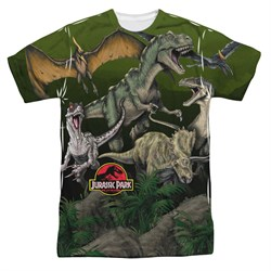 Image of Jurassic Park Pack Of Dinos Sublimation Shirt