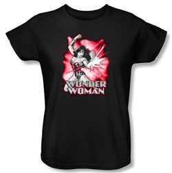 Justice League Ladies T-shirt Wonder Woman Red and Gray Tee